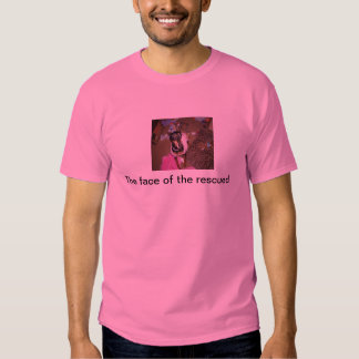 The face of rescued tee shirt
