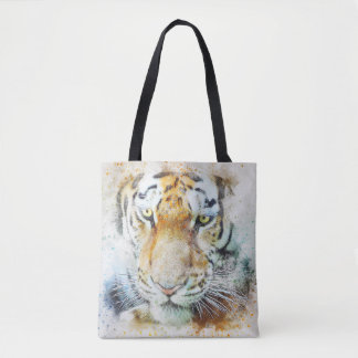 The face of to tiger tote bag