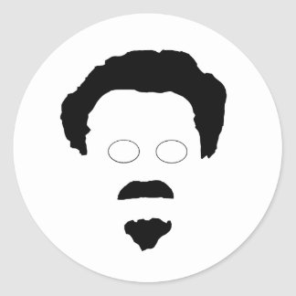 The Face of Trotsky Round Sticker