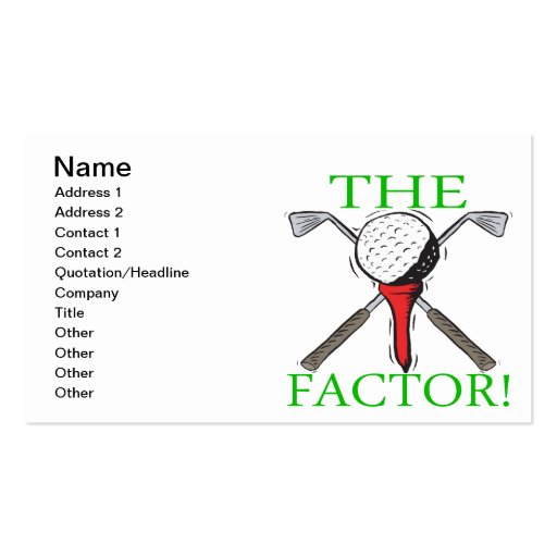The Factor Business Card Templates