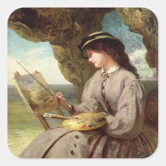 The Fair Amateur, 1862 Square Sticker