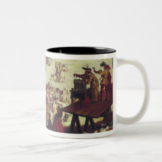 The Fair at Impruneta, detail of the right Two-Tone Coffee Mug