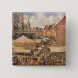 The Fair in Dieppe, Sunny Morning, 1901 15 Cm Square Badge