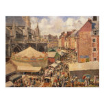 The Fair in Dieppe, Sunny Morning, 1901 Postcard