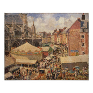 The Fair in Dieppe, Sunny Morning, 1901 Poster