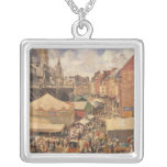 The Fair in Dieppe, Sunny Morning, 1901 Silver Plated Necklace