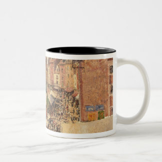 The Fair in Dieppe, Sunny Morning, 1901 Two-Tone Coffee Mug