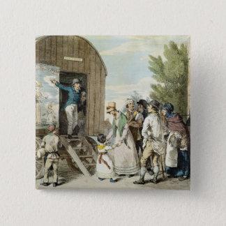 The Fairs: The Show, c.1821 (colour litho) 15 Cm Square Badge