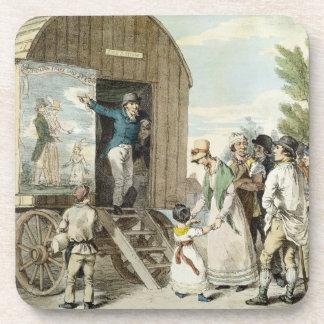 The Fairs: The Show, c.1821 (colour litho) Beverage Coasters