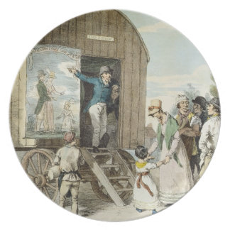 The Fairs: The Show, c.1821 (colour litho) Party Plate