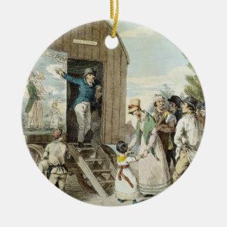 The Fairs: The Show, c.1821 (colour litho) Round Ceramic Decoration