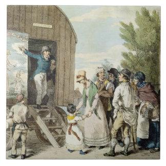 The Fairs: The Show, c.1821 (colour litho) Tile