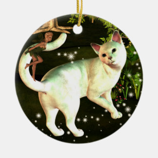 The Fairy and the cat ornament