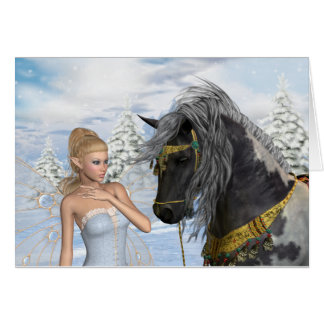 The Fairy and The Stallion, a christmas tale Greeting Card