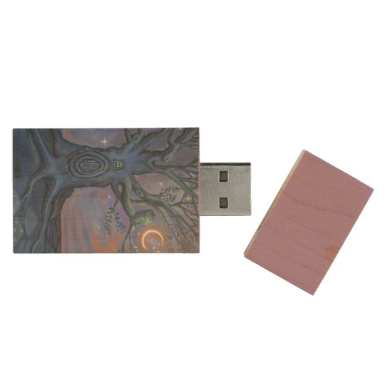 The Fairy Door Messenger - USB Stick Wood