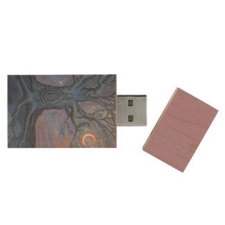 The Fairy Door Messenger - USB Stick Wood USB Flash Drive