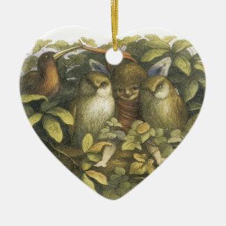 The Fairyland,1870 Fairy With Owls Christmas Ornament