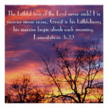 The faithful love of the Lord bible verse poster