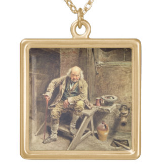 The Faithful Old Servant Gold Plated Necklace