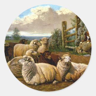 The faithful shepherds classic round sticker