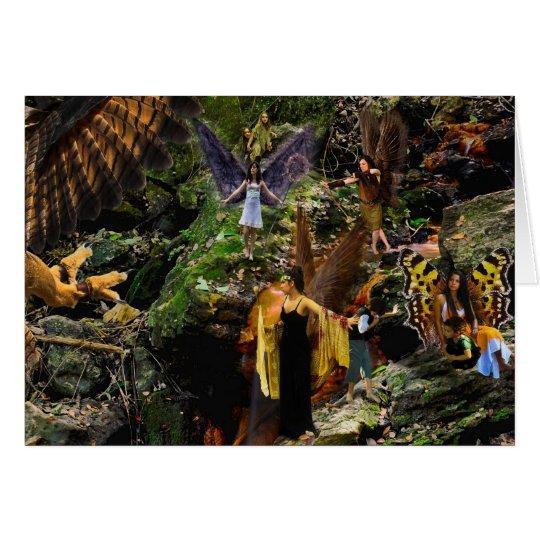 The Falcon War Fairy Fantasy Greeting Card