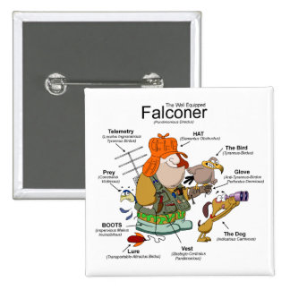 The Falconer Cartoon Button