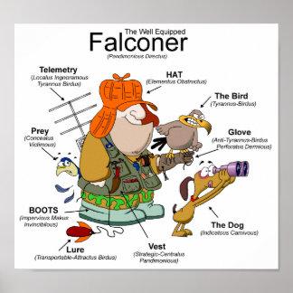 The Falconer Cartoon Poster