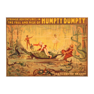 The fall and rise of Humpty Dumpty Theatre Canvas Print