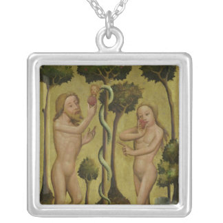 The Fall, detail from the Grabow Altarpiece Silver Plated Necklace