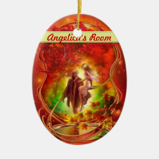 The fall fairy and prince Door hanger / room Christmas Ornament