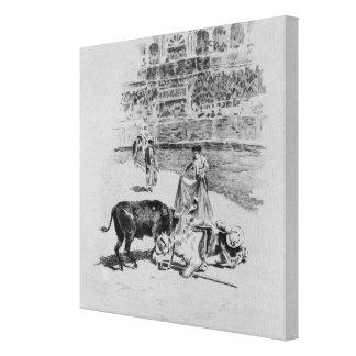 The Fall of a Picador Canvas Print