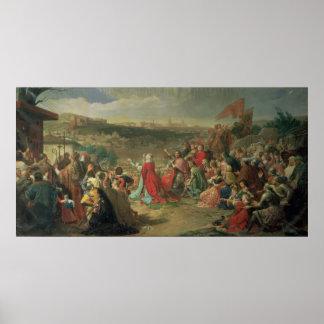 The Fall of Granada in 1492, 1890 Print