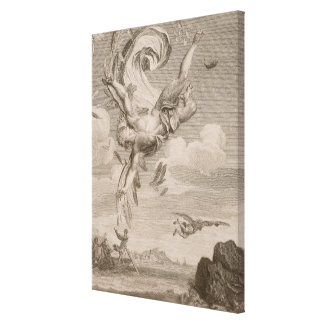 The Fall of Icarus, 1731 (engraving) Canvas Print