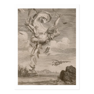 The Fall of Icarus, 1731 (engraving) Postcard