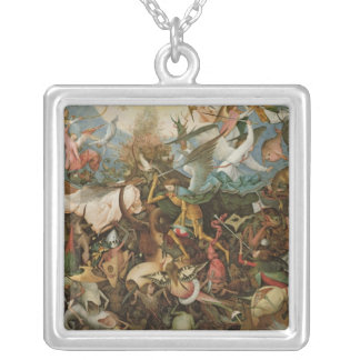 The Fall of the Rebel Angels, 1562 Silver Plated Necklace