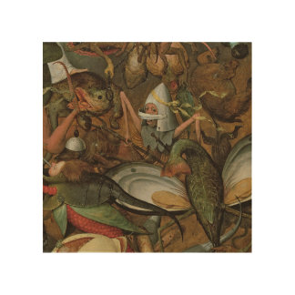The Fall of the Rebel Angels, 1562 Wood Print