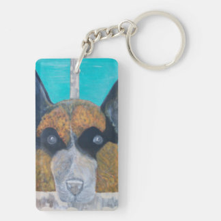 The Fallen, But NEVER Forgotten. Double-Sided Rectangular Acrylic Key Ring