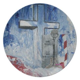 The Fallen, But Never Forgotten Plates