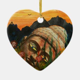 The fallen idol ceramic heart decoration