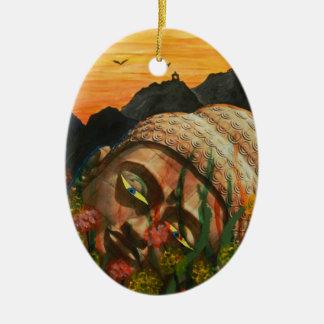 The fallen idol ceramic oval decoration