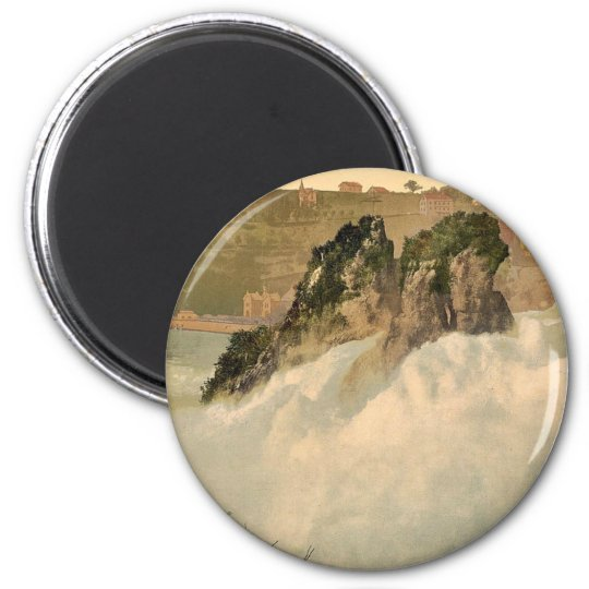 The Falls of the Rhine, from the Kanzeli, Schaffha 6 Cm Round Magnet