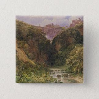 The Falls of Tivoli 15 Cm Square Badge
