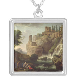 The Falls of Tivoli Silver Plated Necklace