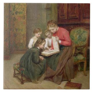The Family Album, 1869 (oil on canvas) Tile