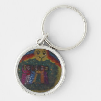 the family circle,friends,by mandy ashby Silver-Colored round key ring