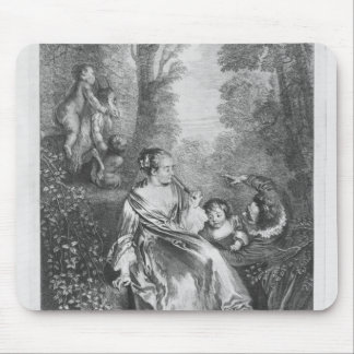 The Family, engraved by Pierre Aveline Mouse Mat