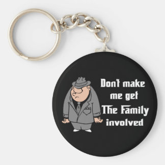 The Family Basic Round Button Key Ring