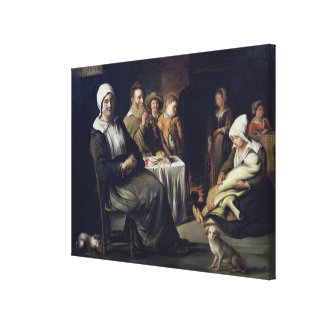 The Family Meal Canvas Print