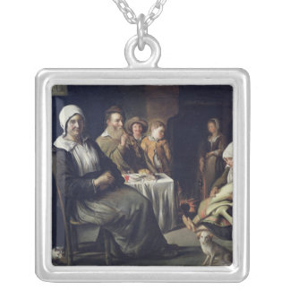 The Family Meal Silver Plated Necklace
