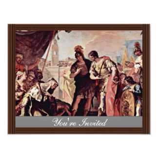 """The Family Of Dario Before Alexander The Great 4.25"""" X 5.5"""" Invitation Card"""